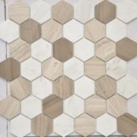 TES78350 Pietra Mix 3 MAT hex 18x30x6x0.6 29.5x30.5