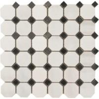 Мозаика  черно-белая TES79644 Натуральный камень