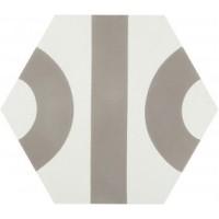 18909  Dsignio ROLL WHITE-GREY 24,8x28,5 24.8x28.5