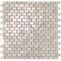 fNWR Brickell White Brick Mosaico Gloss 30x30