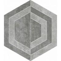 Scratch Grys Heksagon C Mat. 26x29.8