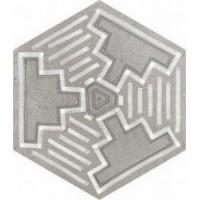 Hexagono Igneus Cemento Mix 23x26,6