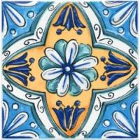 Керамическая плитка  для ванной синяя STGA4565232