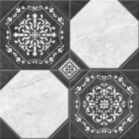 Керамогранит  черно-белый Керамин TES19802