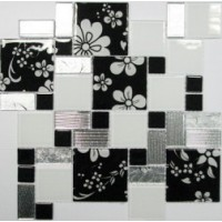 Мозаика  черно-белая Keramissimo 4025