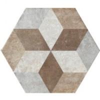 TES13755 Heritage Deco Exagona Texture 4 34.5x40