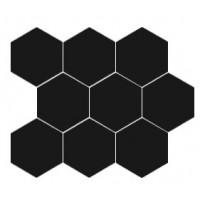 21916 HEXAGON MOSAIC BLACK 31X38