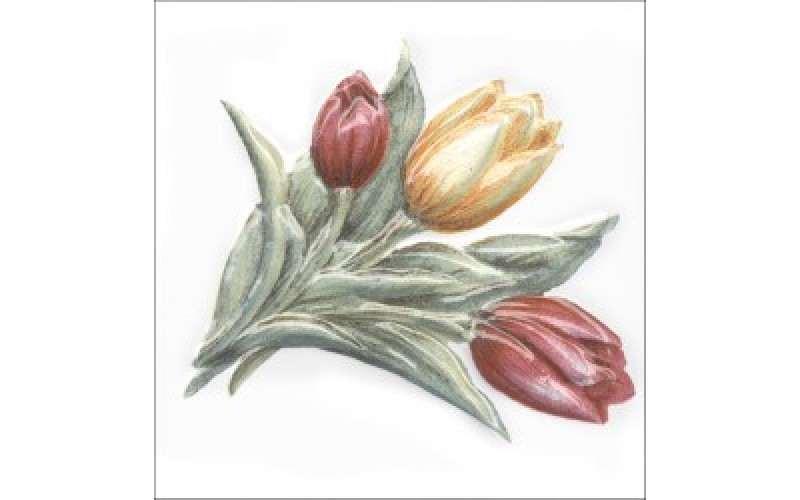 Керамическая плитка  Оранжерея Тюльпаны 9.9x9.9 Kerama Marazzi TFA013