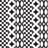 7VFNBML Deco Dantan Comp.Mosaico 36pz Noir-Blanc 30x30