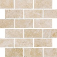 SMBR1A  Brick Bondx1 Mosaic White 30.5x30.5