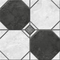 Керамогранит  черно-белый Керамин TES19800
