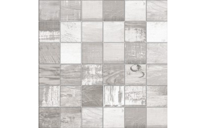 Мозаика Mosaico Chalkwood White Natural  29.75x29.75 Aparici TES76590