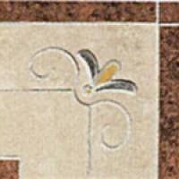 TES13092 Angolo Floreale Botticino Levigato (Botticino, Madras Pink) 15x15