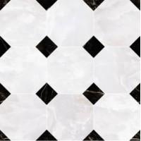 262610  MOSAICO OTTAGONO Onice Bianco 39x39