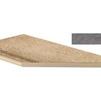 A1OX Brave Grey Gradino Round Angolo Dx 30x60 LASTRA 20mm