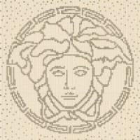 37200 COMPOSIZIONE MEDUSA BEIGE/SILVER 118x8,4