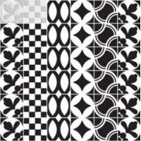 7VFBGMN  Deco Dantan Comp.Mosaico 36pz Blanc-Gris 30x30