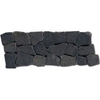 GAM1030F18 Frise Plat Marbre Noir 10x30