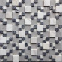 Мозаика матовая белая Опера декора MLS001