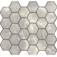 TES78351 Travertino silver MAT hex 18x30x6x0.6 29.5x30.5
