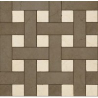 118033 Palace Gold MOSAICO CHESTERFIELD NERO/ALMOND 39,4x39,4