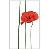 340043 Моноколор Цветок Красный 25x40