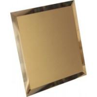 КЗБ1-02 Квадратная зеркальная бронзовая с фацетом 10 мм 20x20