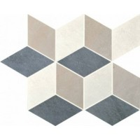 215478  District Cubic Mix1 Denim+Moon+Taupe 26x30