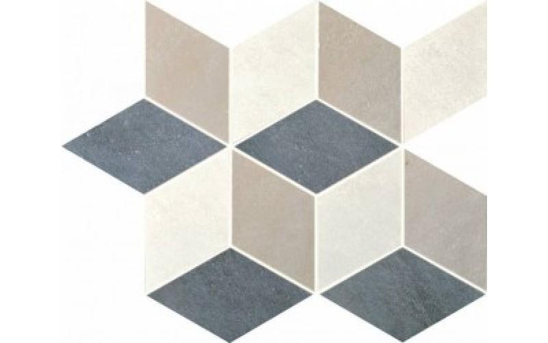 Керамическая плитка  District Cubic Mix1 Denim+Moon+Taupe  26x30 Colorker 215478