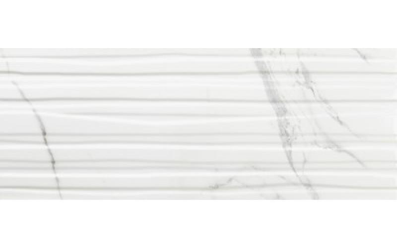 Керамическая плитка Calacatta Branches Mate SlimRect White 24,2x64,2 64.2x24.2 Azulev 124423