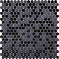 L244007111 Glaze Mini Hexagon Black 29,5x30