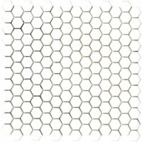L244006811 Glaze Hexagon Whites Matt 30,2x30
