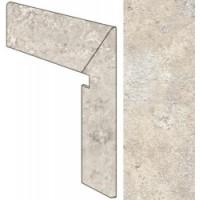 SG01BDX  Stone Age Chianca Set Battiscopa Scala Dx 10x63