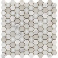 L244006201  Aura Hexagon Whites 29x30