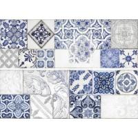 Декор DECOR TIMELESS BLUE (2 PZS MIX) ITT Ceramic