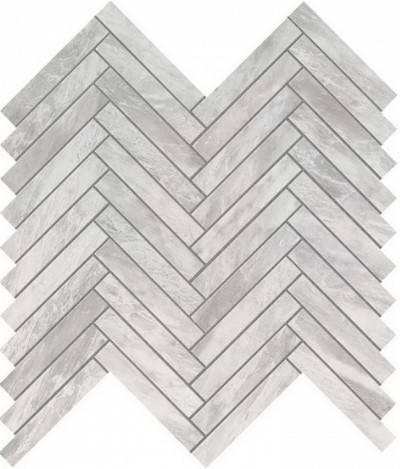 Bardiglio Grey Herringbone Wall