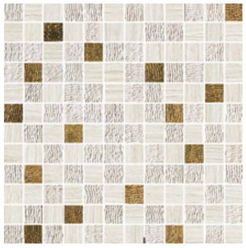 Travertino White Mosaico Gold