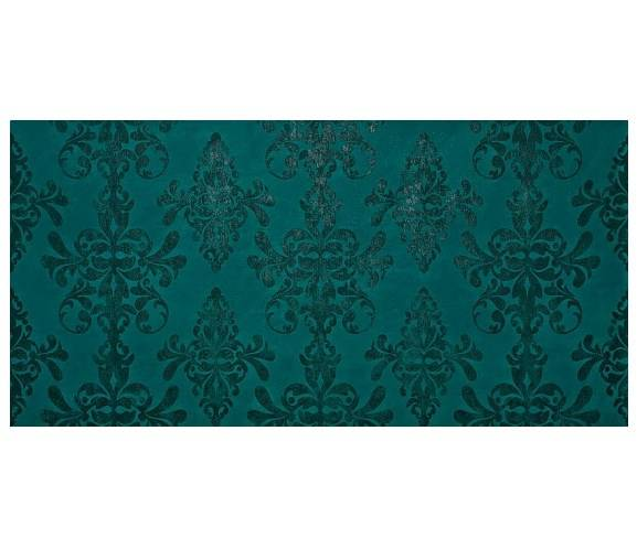 Petroleum Green Damask