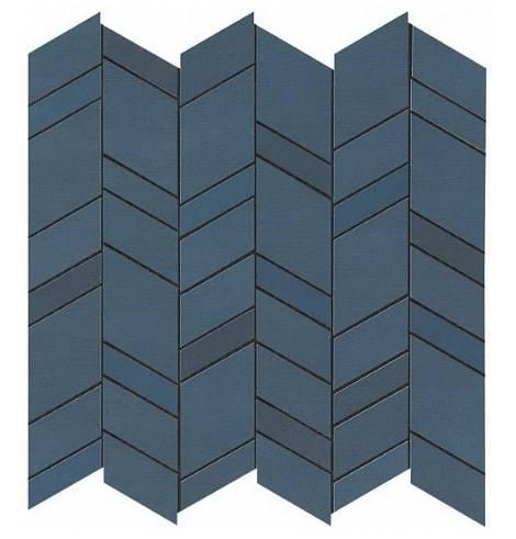 Blue Mosaico Chevron