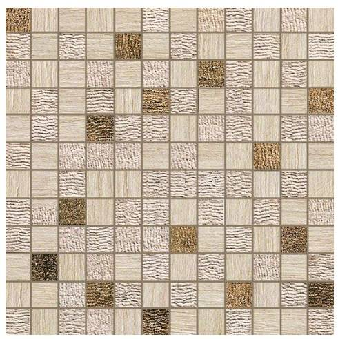Керамогранитная мозаика Travertino Almond Mosaico Gold 30x30 Atlas Concorde
