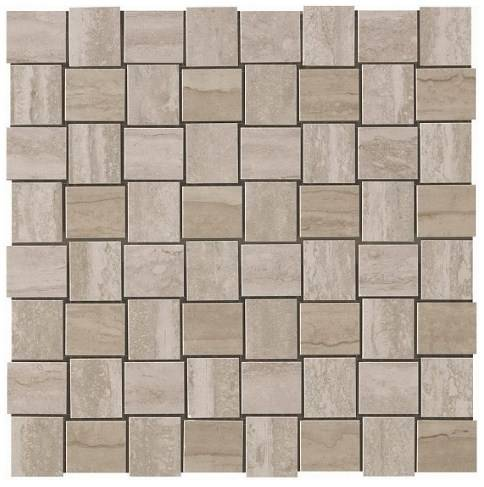 Керамогранитная мозаика Travertino Silver Net Mosaic 30.5x30.5 Atlas Concorde