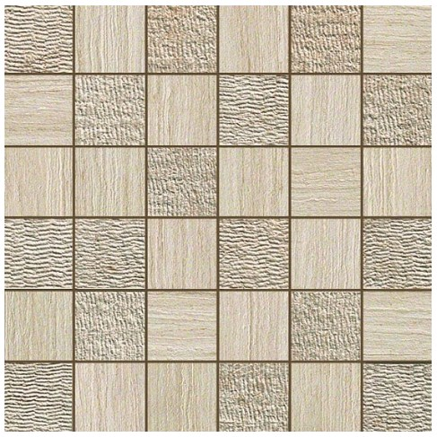Керамогранитная мозаика Travertino Almond Mosaico Mix 30x30 Atlas Concorde