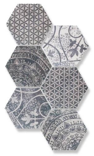 Напольный декор ALCHIMIA ARS MIX 2 BIANCO NERO Quintessenza Ceramiche