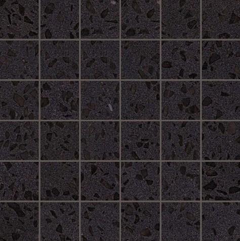 Керамогранитная мозаика Terrazzo Black Mosaico Lappato Лаппатированная 30.5x30.5 Atlas Concorde