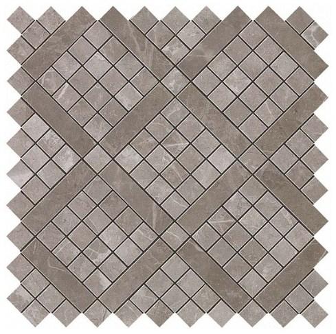 Керамогранитная мозаика Grey Fleury Diagonal Mosaic 30.5x30.5 Atlas Concorde