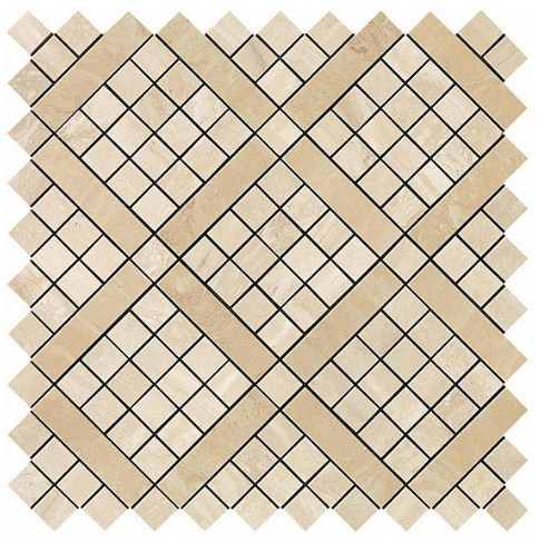 Керамогранитная мозаика Travertino Alabastrino Diagonal Mosaic 30.5x30.5 Atlas Concorde