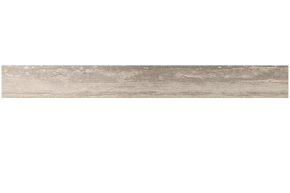 Керамическая плитка бордюр Travertino Silver Listello Lappato полуполированный  Atlas Concorde