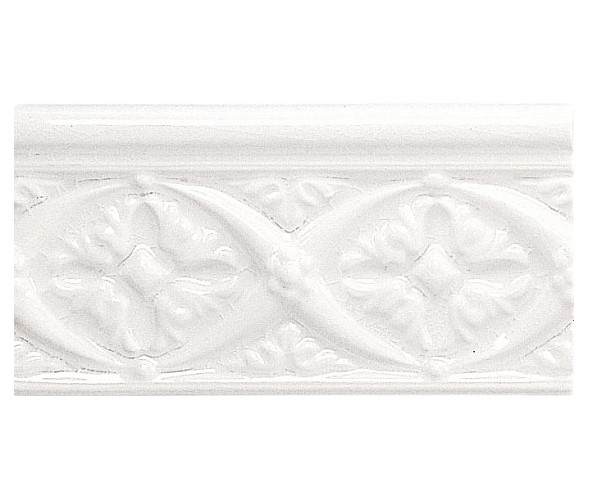 Бордюр ADEX MODERNISTA Relieve Bizantino C/C Blanco