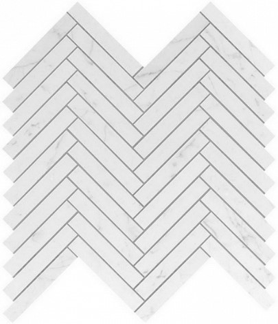 Керамогранитная мозаика Carrara Pure Herringbone Wall 30.5x30.5 Atlas Concorde