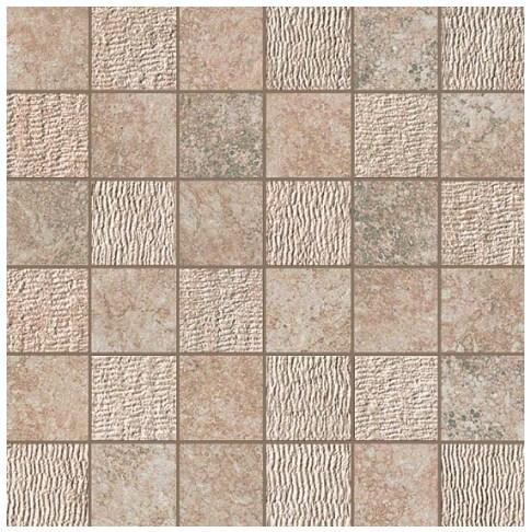 Керамогранитная мозаика Rapolano Beige Mosaico Mix 30x30 Atlas Concorde